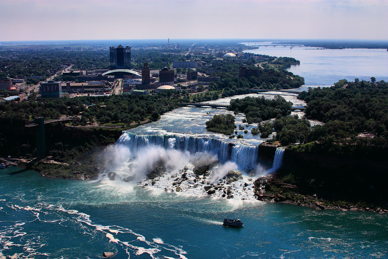 American side of Niagara Falls taken from the Skylon Tower.