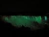 Lighted green falls lights