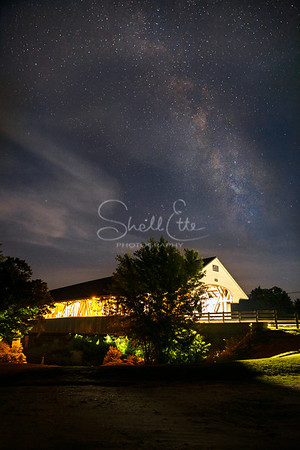 Smith Covered Bridge Wispy Milky Way