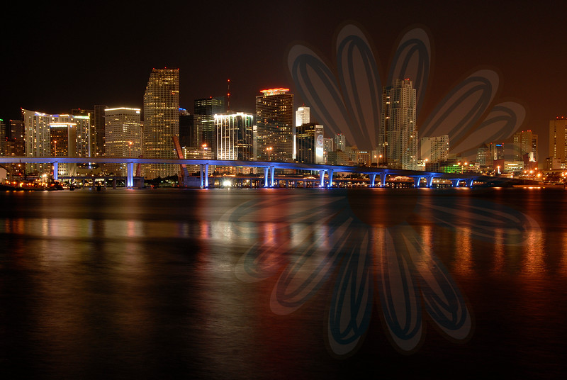 Miami Skyline-Night Photography