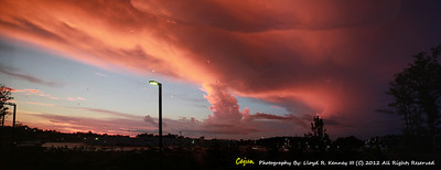 This photo was taken from a room in the Hampton Inn in Jasper Alabama. A thunderstorm moves in over Jasper Alabama July 2012.