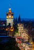 Balmoral Hotel Twilight, Edinburgh, Scotland