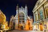 Bath Abbey at Night, Bath, England