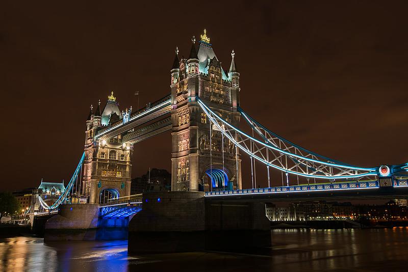 London Bridge at Night, London, England