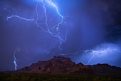 Electrical Storm over Red Mountain
