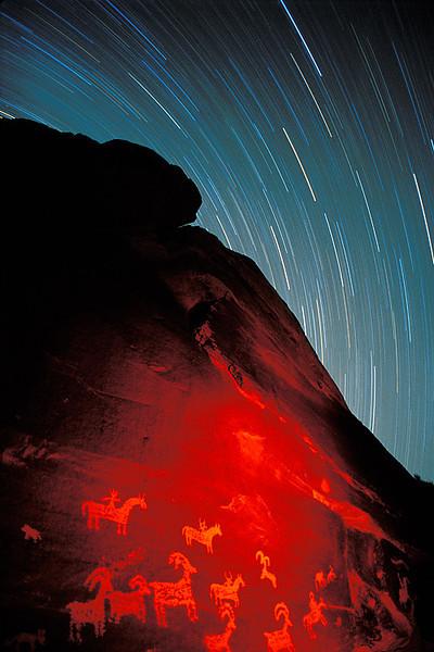 #128 Petroglyphs & Star Trails, Arches NP, UT