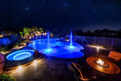 Arizona pools, night sky, warm summer nights. AZ 2017