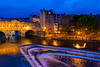 Pulteney Bridge and Avon River at Twilight, Bath, England