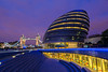 London City Hall and London Bridge at Twilight, London, England