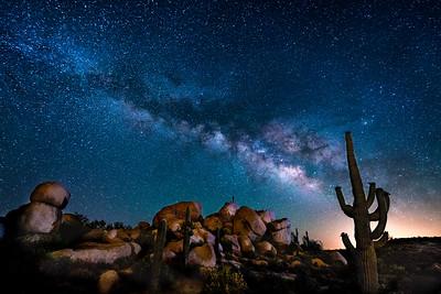 Alone under the Milky Way, Florence, Arizona