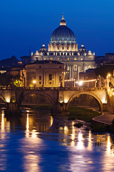 St. Peters Twilight, Rome, Italy