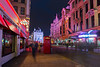 Night Street Scene, London, England