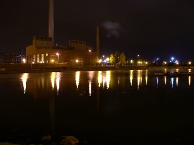 Riverwalk. Pueblo, CO Looking towards the power plant.
