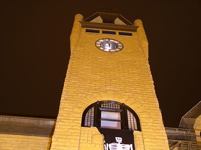 Union Depot, Pueblo, CO clock tower...was halloween when I took these..