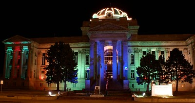 Pueblo County Courthouse.  Christmas Time.