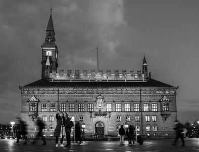 Selfie in front of Copenhagen Town Hall