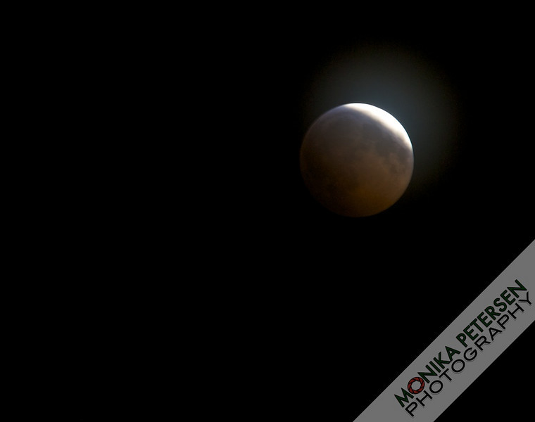 Lunar Eclipse, 2010. Almost covered