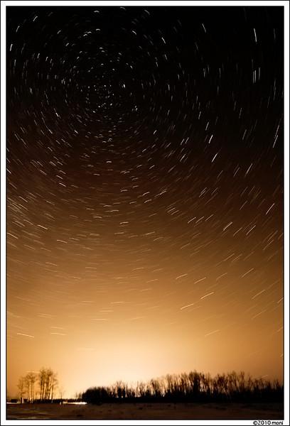 star trails, March8th, 2010