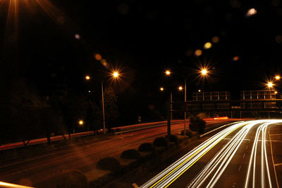 Urban motorway on a long exposure.