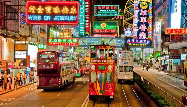 Hong Kong by night 2009