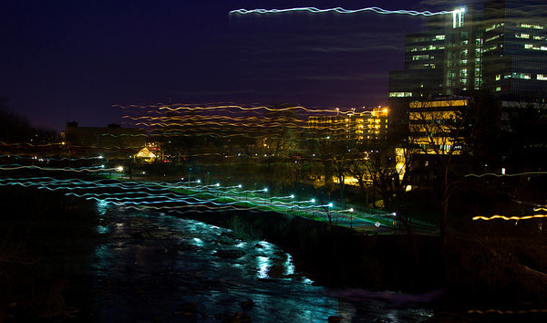 Bumped the camera during a long exposure.  But people seem to like it.