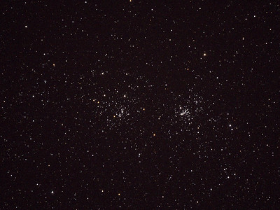 Double Cluster NGC 869 and NGC 884 taken with the Sigma 600mm piggybacked on the Bisbee scope.