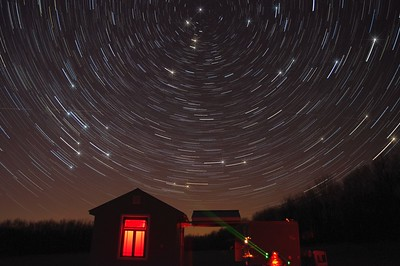 March 21st, 2012.  Star trails at Bisbee Hill Observatory.