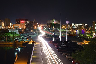 Downtown Erie at Night