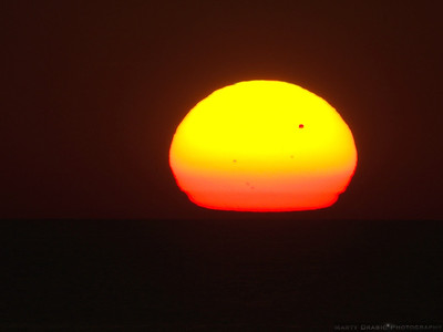 June 5th, 2012  Venus Transit. A transit of Venus across the Sun takes place when the planet Venus passes directly between the Sun and Earth. During a transit, Venus can be seen from Earth as a small black disk moving across the face of the Sun.