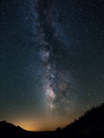 Nature's Fireworks — Milky Way Over Half Dome