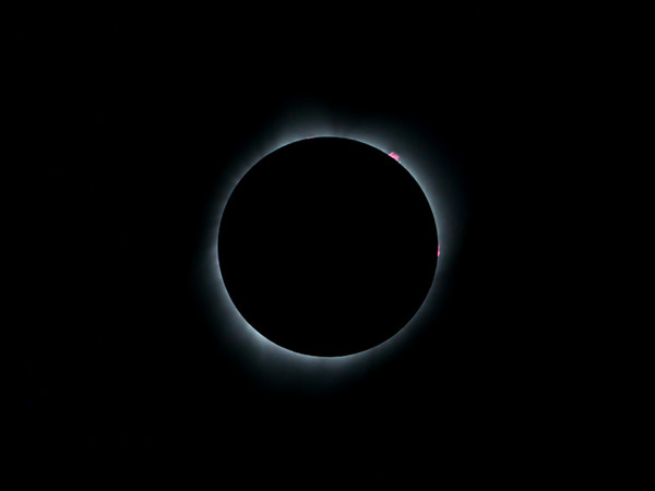 Totality with Solar Flares