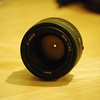 Looking into the 50mm f/1.8D.
