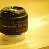 Close-up of the new 50mm f/1.8D.