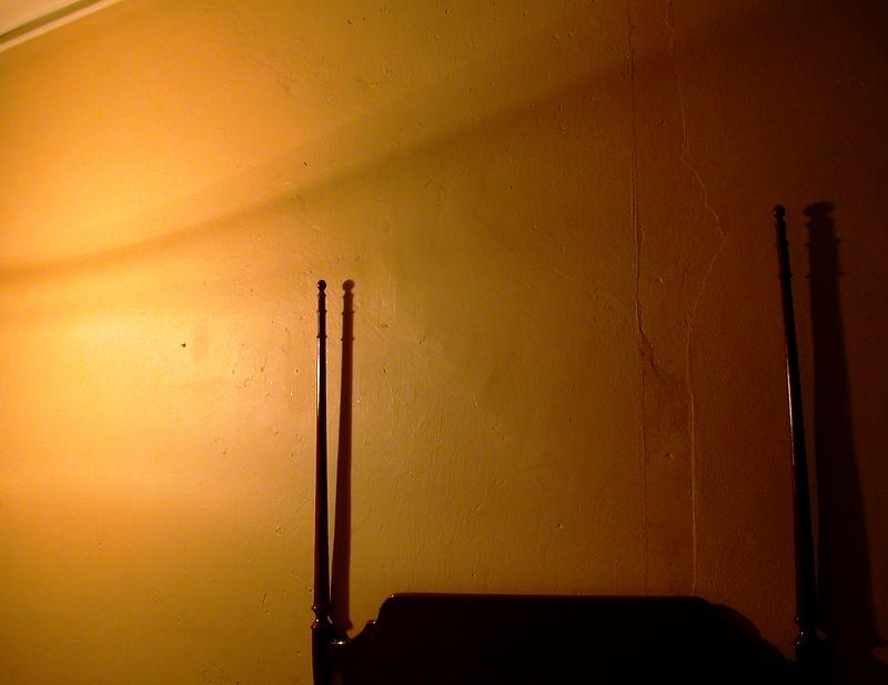 Hotel Room at Night.