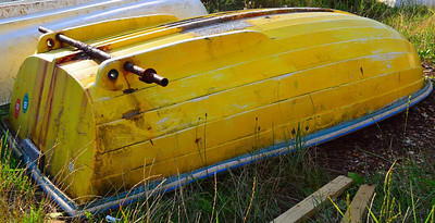 Dinghy in storage, texture, form and light!