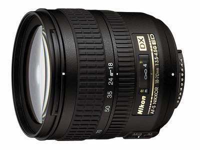 Nikkor 18-70mm f/3.5-4.5G AF-S wide angle zoom lens