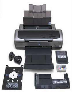 """Epson Sylus Photo R1800 Printer, purchased Feb. 2008. 13"""" x 44"""" capacity (with roll paper)."""