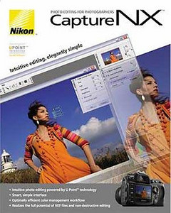 Nikon Capture NX Software for RAW processing and digital darkroom work, purchased April, 2007. Version 1.3.1, now up to Version 2.1 (Dec.08).
