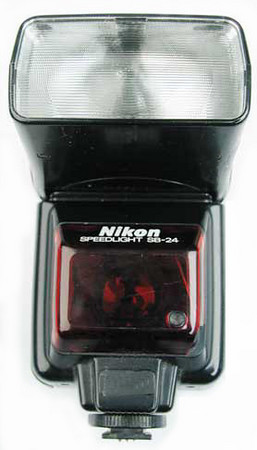 Nikon Speedlight SB-24 flash unit. Second flash for additional lighting.