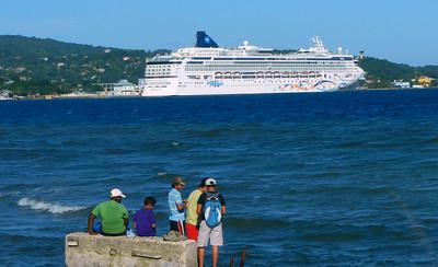 NCL Star in port. Roatan, Honduras