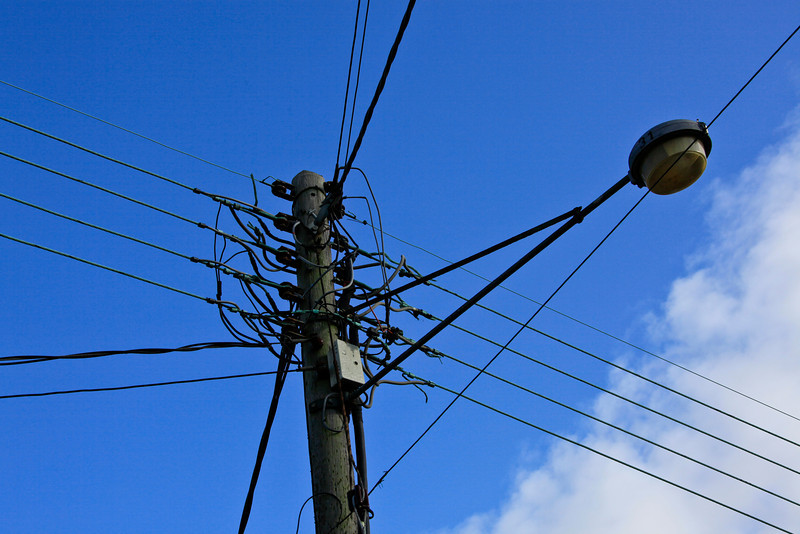 Wires, lights and telephones