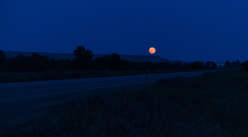 Moonrise in southeast Montana