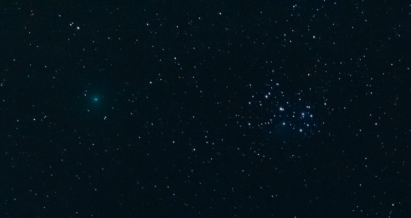 Stars and a comet