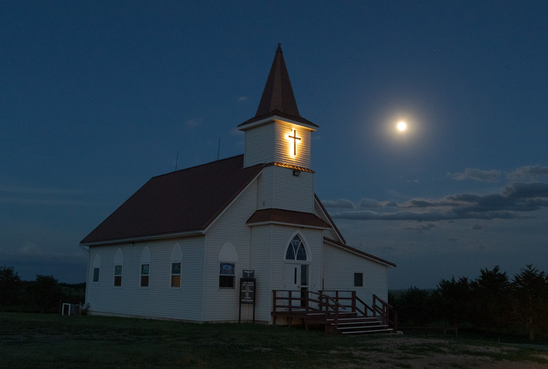 Church near Reva, South Dakota