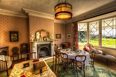 Highwic: A view of the lawn.  My first Interior shot.  Great place to shoot, so many interesting nooks and crannies, as you'll see in future photo's.  For more Information visit http://www.highwic.co.nz