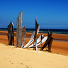Omaha Beach at Normandy France