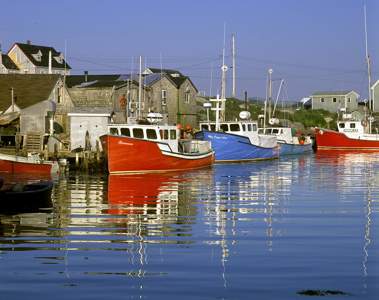 Peggy's Cove Lobster Boats, Nova Scotia