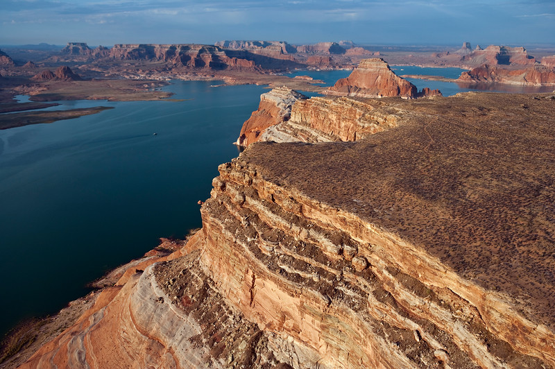 Morning Aerial View of Glen Canyon - Lake Powell