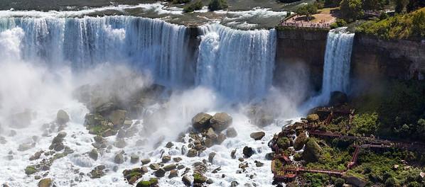 The American Falls at Niagara Falls, New York