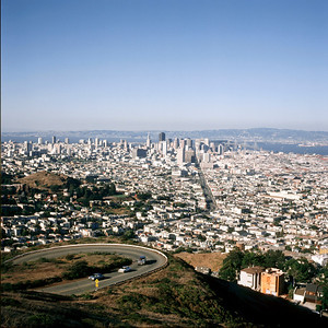 Downtown and Bay Bridge, San, Francisco, California